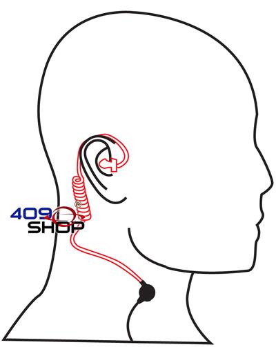 4-006Y7 PTT按制真空氣喉耳機