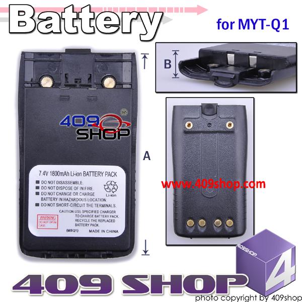 7.4V  x 7.4V 1800 mAh LI-ION Battery for MYT MYTQ1