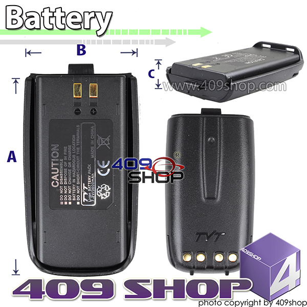 7.2V 3600MAH LI-ION BATTERY FOR TYT TC8000V