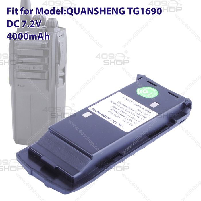 Quansheng Li-ion Battery 4000mAh for TG-1690