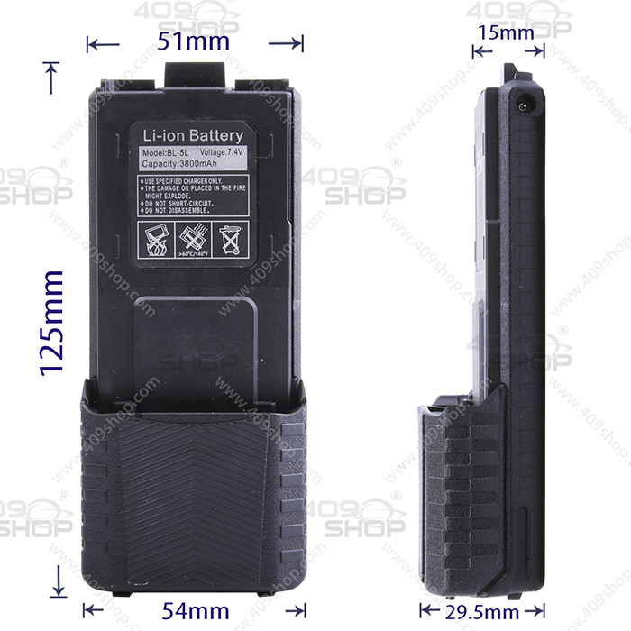 7.4V 3800mAh Rechargeable LI-ION Battery For UV5R Series