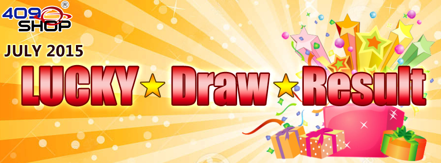 July 2015 Lucky Draw Results