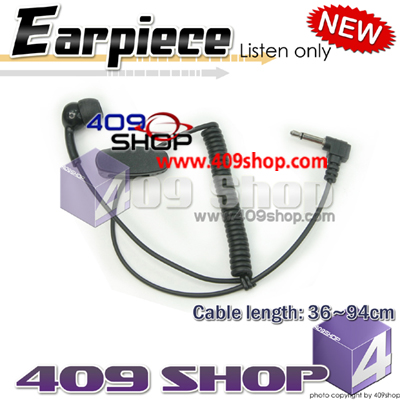Mono Earpiece with 3.5mm plug for speaker /mic
