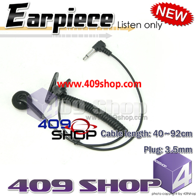 Earpiece with 3.5MM plug for speaker /mic