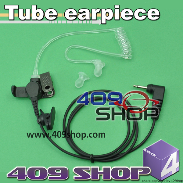 Tube earpiece with 3.5mm plug for speaker / mic