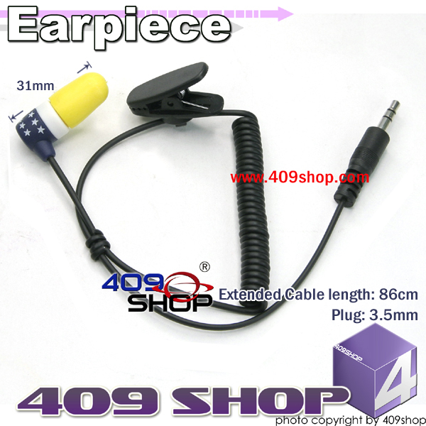 Earp. with 3.5mm plug for speaker/mic (Navy Blue)