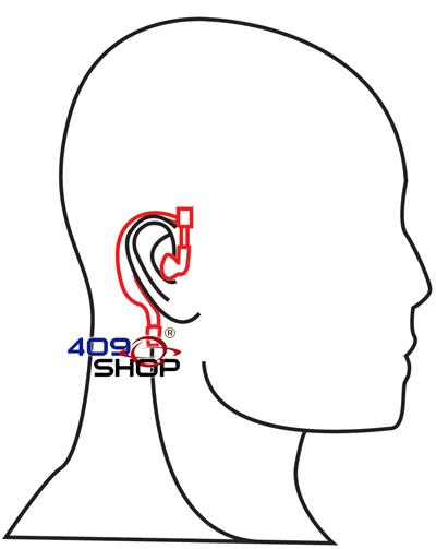 4 135k 2 Wire Ear Loop Earpiece With Ptt Push To Talk 409shop
