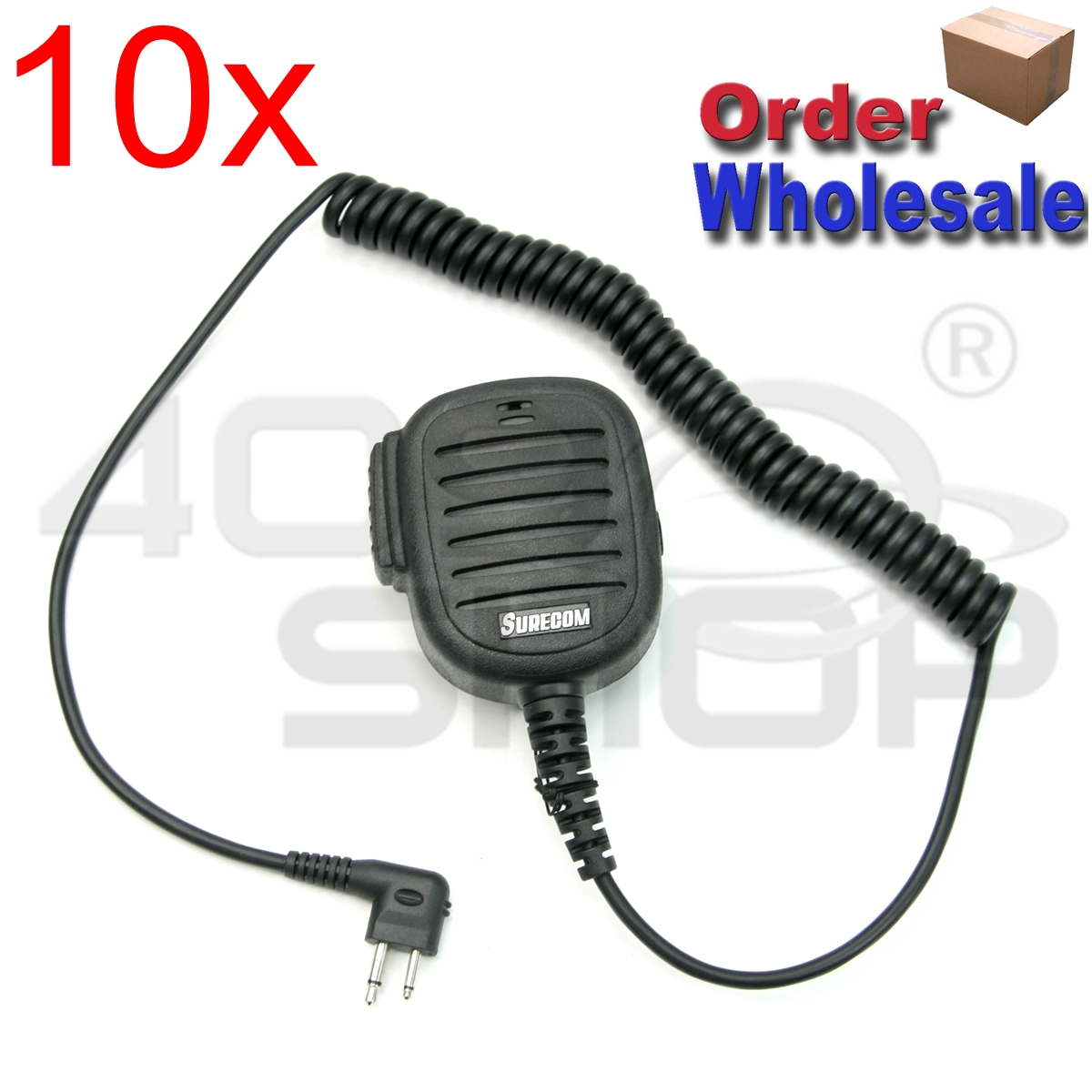 10x SURECOM Speaker Mic FOR MOTOROLA T450LS ECP100 GP68