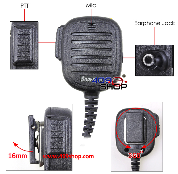 10x SURECOM Speaker Mic FOR MOTOROLA T450LS ECP100 GP68