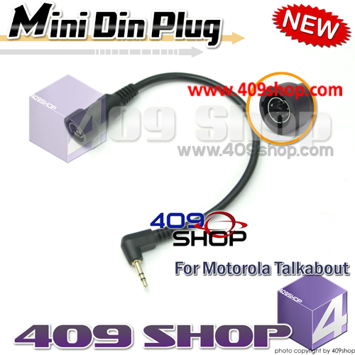 Mini Din Plug for 2.5mm 1 pin for T8550, T9000,T9500, T9550