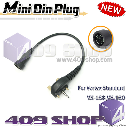 Mini Din Plug for Vertex Standard VX160, VX-168, VX180, VX210,VX210A,
