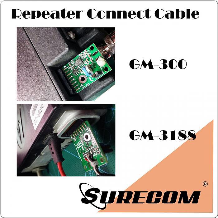 Duplex Repeater Interface for Motorola Radio GM3188 GR-300 GM300