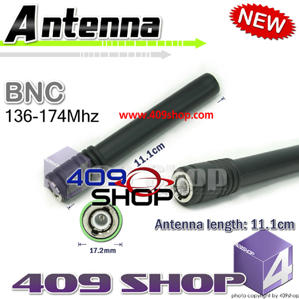 SURECOM ANTENNA BNC 136~174MHz VHF for CU32, CP/CS 5015, 0420