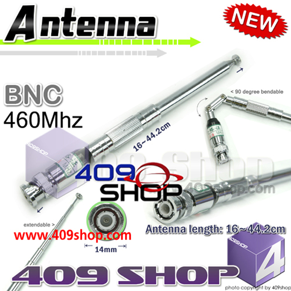 TELESCOPIC ANTENNA BNC 460MHz for IC-V82 , IC-U82 ,IC-W32