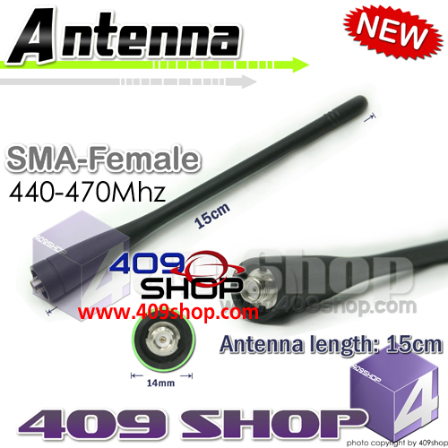 SMA-FEMALE 15CM UHF 440-470MHz WHIP ANTENNA for KENWOOD TK-260 TK-270 TK-272