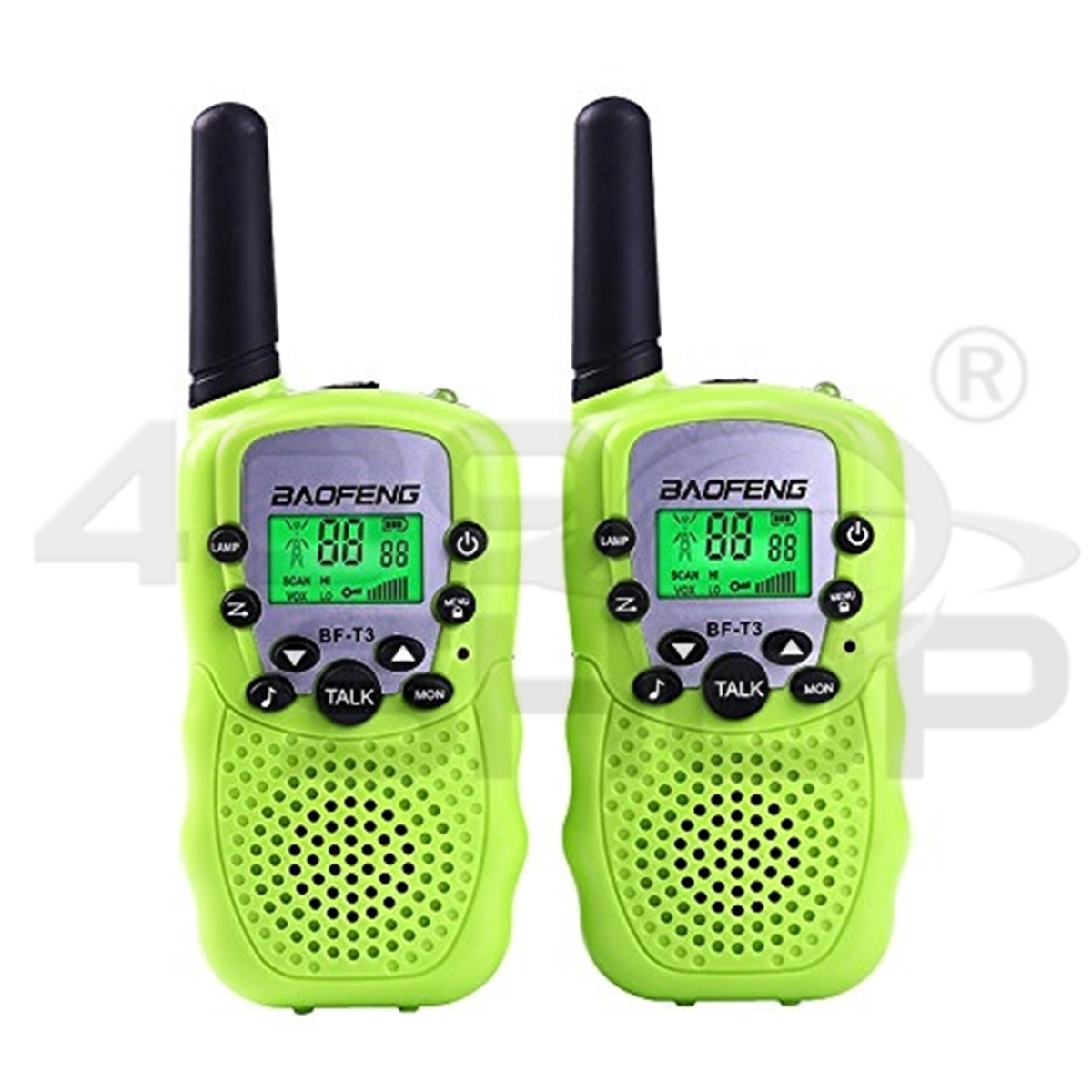 1 Pair BaoFeng T-3 Kids Walkie Talkie GREEN Two Way Radio BF-T3 Mini radio