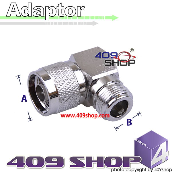 N-Type 90deg N male to N Jack female RF adapter connector Zinc Alloy