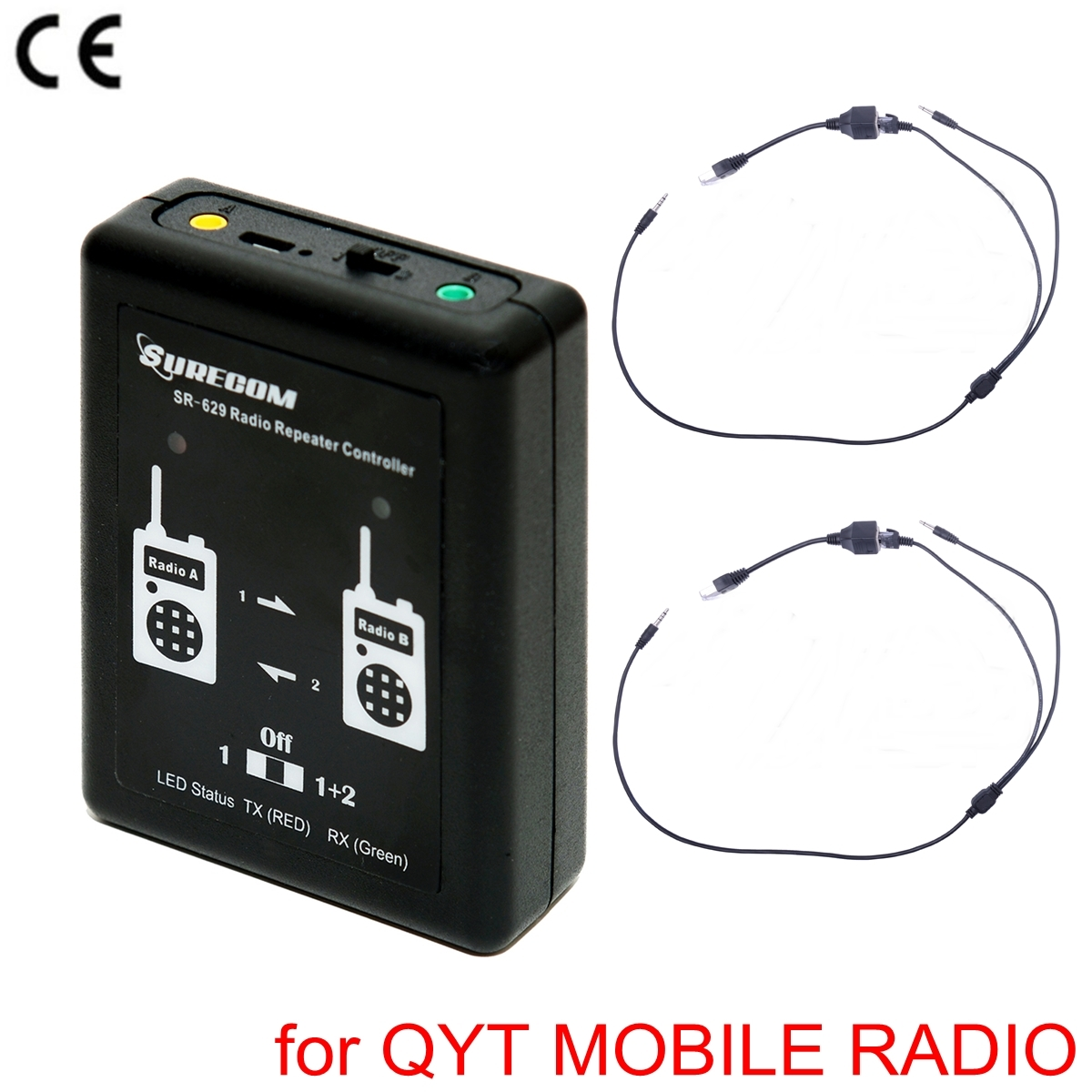 SURECOM SR-629 Duplex Repeater Controller with QYT KT-UV980 Mobile Radio CABLE