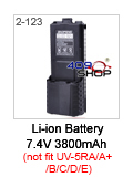 baofeng UV-5R black battery 3800mah