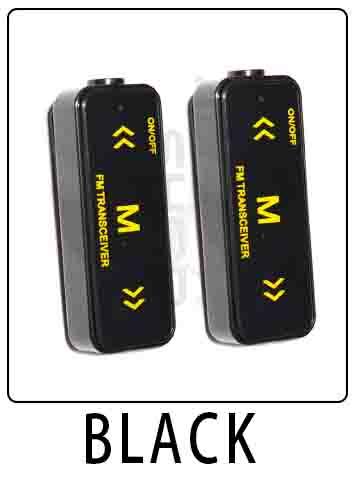 AHUAGO Mini Radio Black 16 Channel Walkie Talkie UHF 400-470 MHz