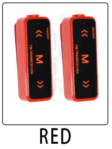 AHUAGO Mini Radio RED 16 Channel Walkie Talkie UHF 400-470 MHz