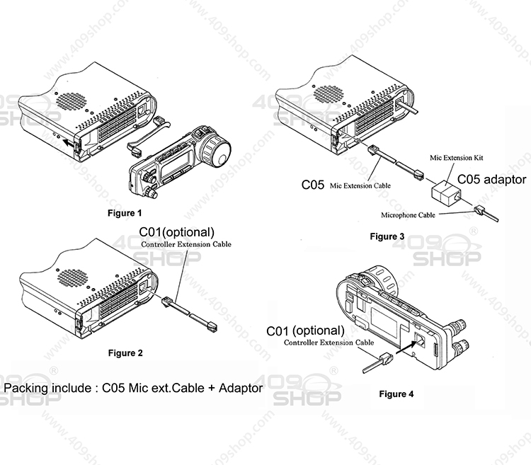 6M Separation Cable Kit for FT-857 FT-857R YSK-857 409shop ... on