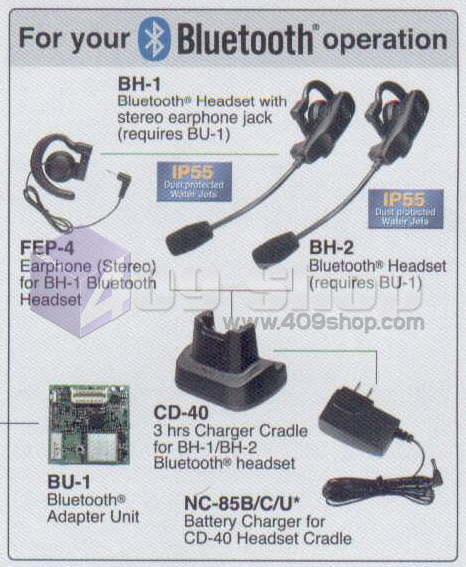 Yaesu CD-40 charger cradle for BH-1 BH-1A VX-8R