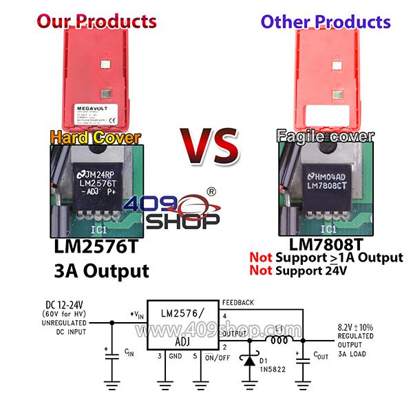 Car Battery Eliminator for FeiDax FD150A FD160A FD450A FD460A