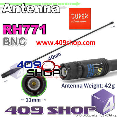 TAIWAN GOODS SUPER G-RH771BNC Antenna 144/430MHZ