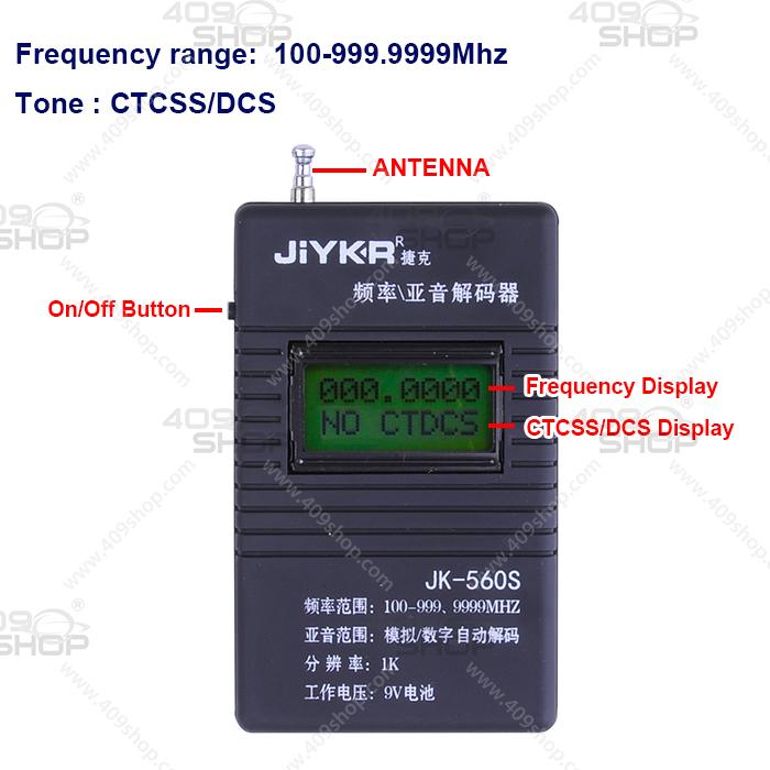1 x JiYKR JK-560S 100-999 9999Mhz CTCSS CDCSS Frequency