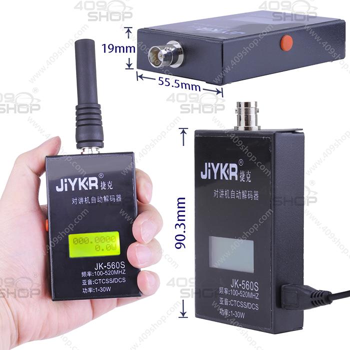 JiYKR JK-560S CTCSS/DCS/Watt Portable Frequency Counter 409shop