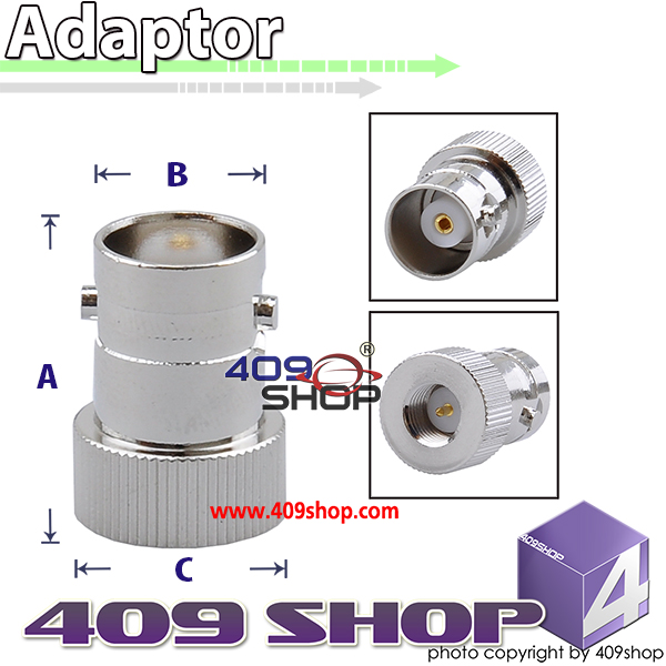 SMA - MALE TO BNC - FEMALE ADAPTOR BNCJ-SMAP