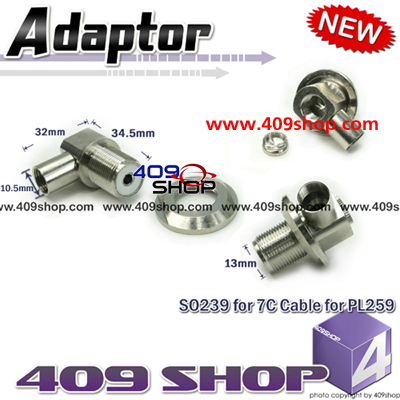 SO239  for 7C Cable  for PL259 mobile  Antenna