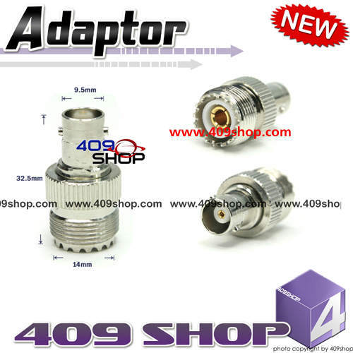 BNC Female to SO239 adaptor