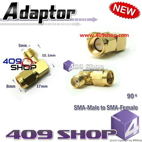 SMA-male to SMA-Female 90º Adaptor