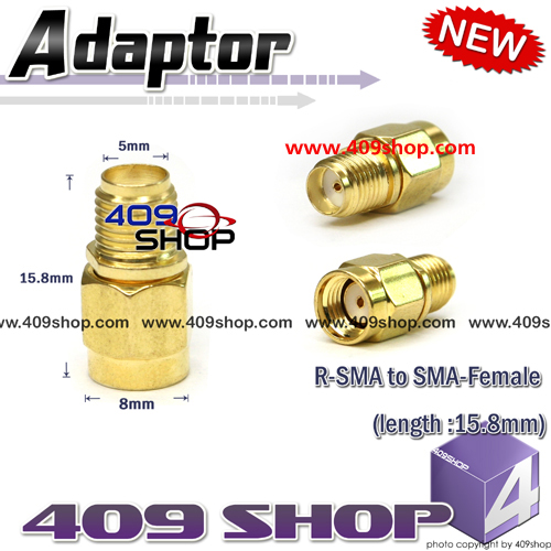R-SMA to SMA-Female (length :15.8mm)