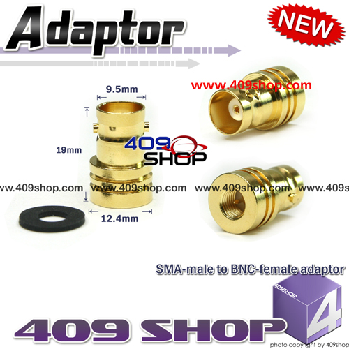 SMA - male to BNC - female  adaptor for radio