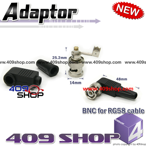 BNC Plug for RG58 cable connect
