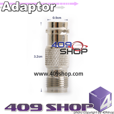 TNC Female Jack to BNC Female Jack Coax Adapter