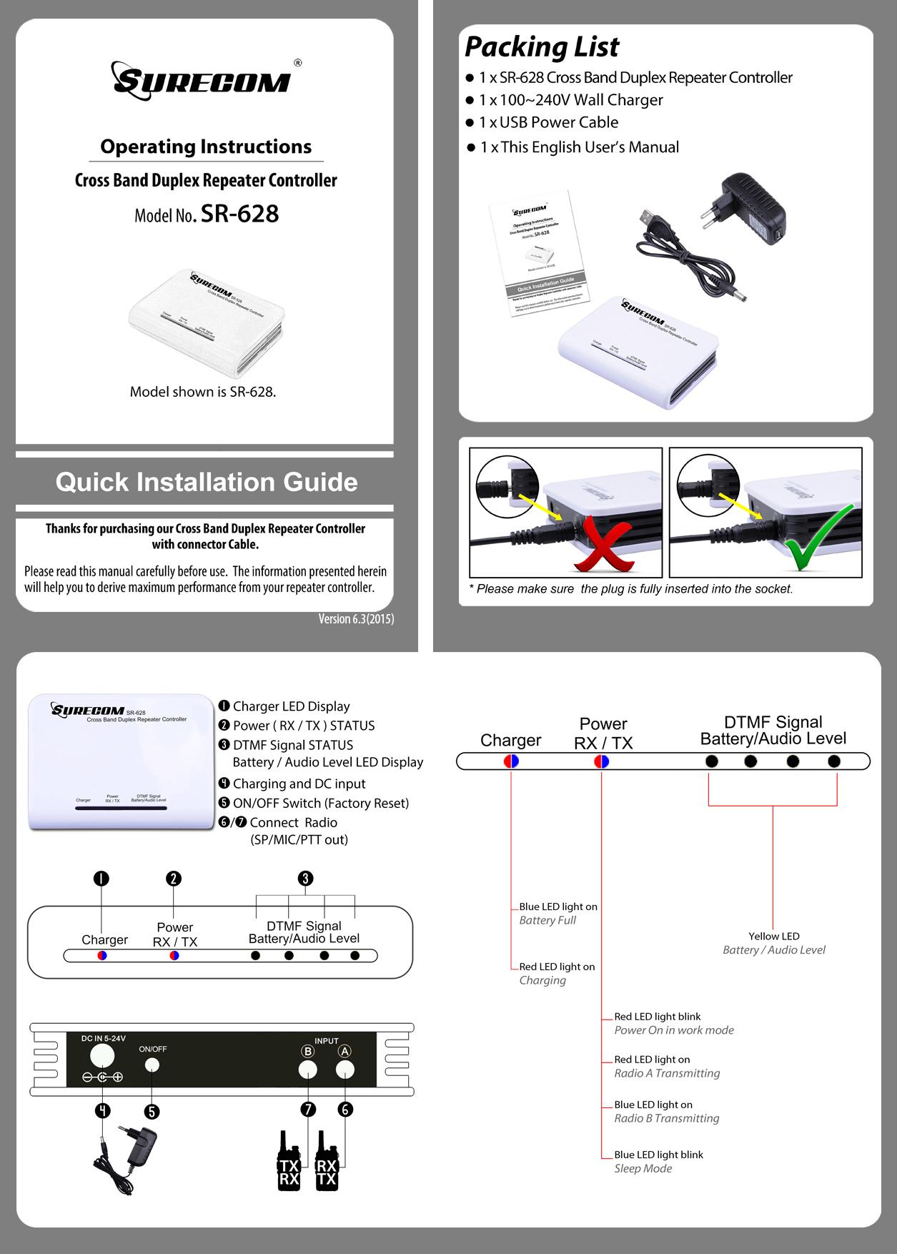 SURECOM SR-628 Manual