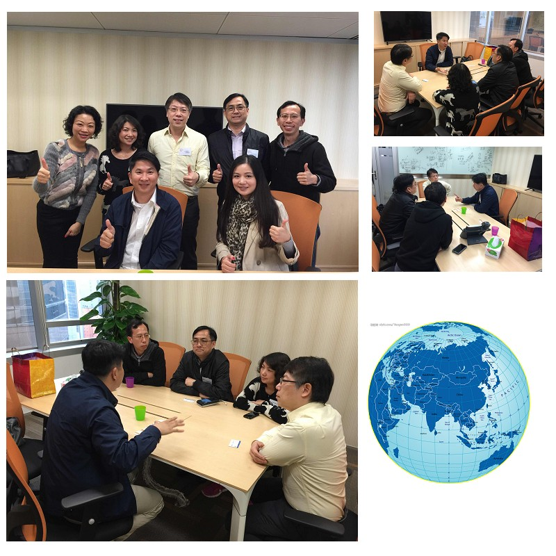 Mr. Chan of Taiwan Chamber of Commerce and president of the network to meet