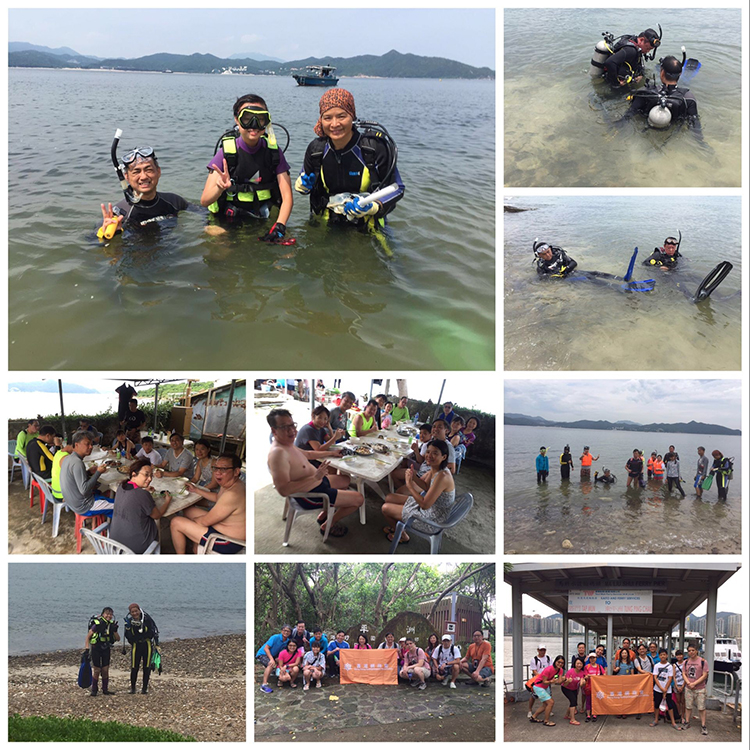And a friends to HONG KONG Tung Ping Chau diving and snorkeling 2016July