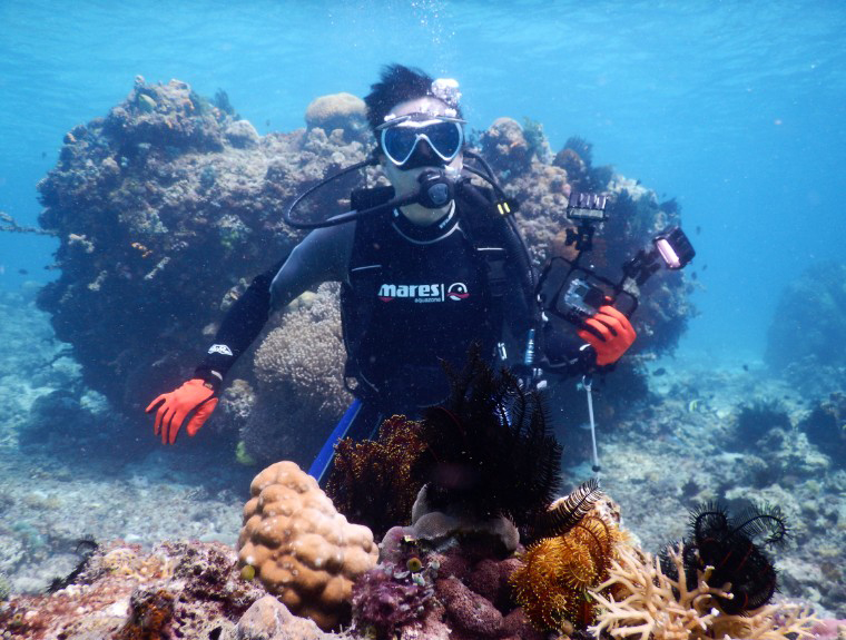 Mr. Chan go to Diving in Anilao
