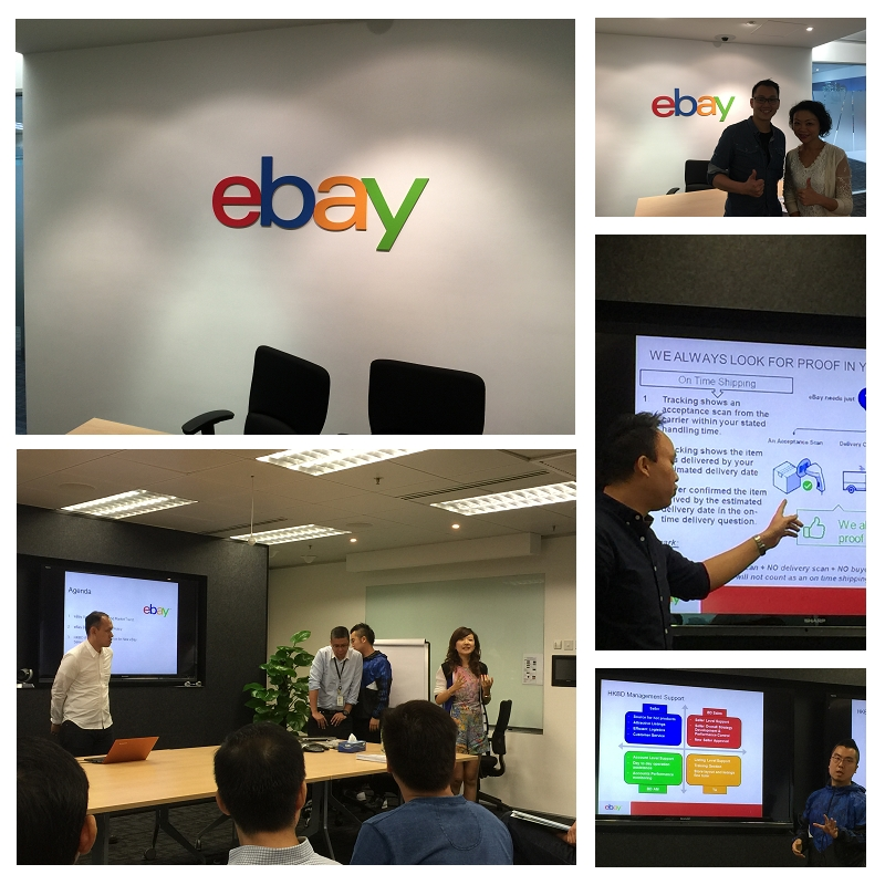 Ebay Hong Kong office visits and exchanges group