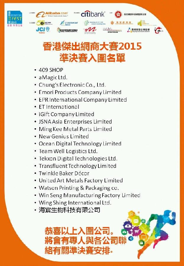 HONGKONG ecommerce Top 20